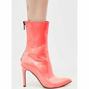 Current Mood Brand Coral Cosima Neon Pink Boots